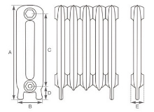 Princess Cast Iron Radiator, specifications